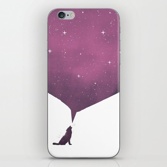 wolf song iPhone Skin
