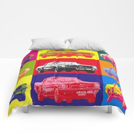 Mustang V8 1967 pop art inspired by A.W Comforters