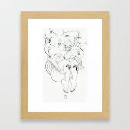 skull mstr Framed Art Print