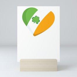 Kids St Patricks Day Irish Heart Mini Art Print