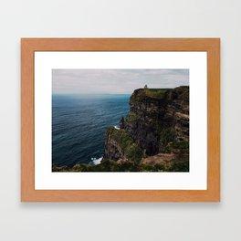Cliffs of Moher castle Framed Art Print