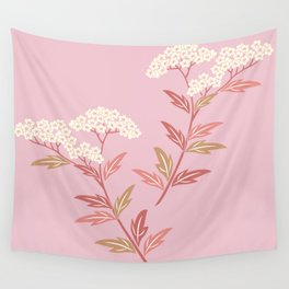 Summer Sweet Soft Pink Bloom Floral Wall Tapestry