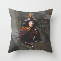 lost in translation Throw Pillows featuring Lost In Translation by Ian Watt