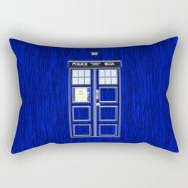 Tardis Art Blue Phone Both Rectangular Pillow