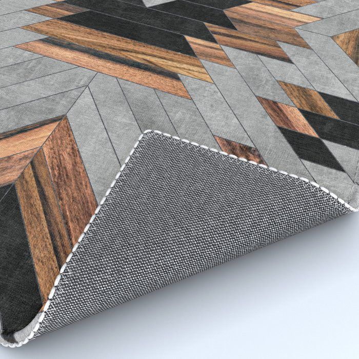 Urban Tribal Pattern No.6 - Aztec - Concrete and Wood Rug