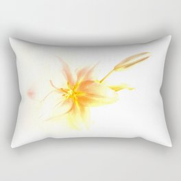 Pink and Yellow Tiger Lily - Dreamy Floral Photography - Flower Art Prints, T-shirts, Phone Cases... Rectangular Pillow