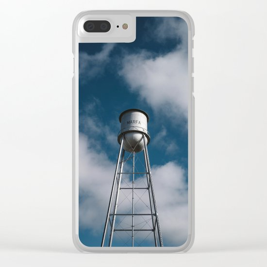 Marfa Water Tower Clear iPhone Case