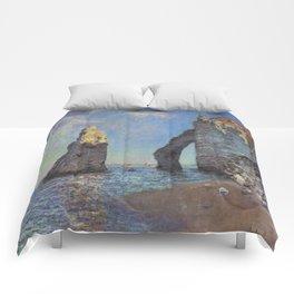 Claude Monet's The Cliffs at Etretat Comforters