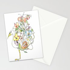 Bird of Flowers Stationery Cards