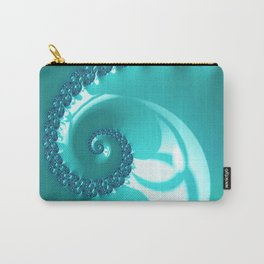 Spiral in Turquoise Carry-All Pouch