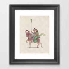Indian Knight Framed Art Print