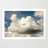 Airplane/Fly/Clouds/Sky Art Print