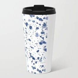 Splat in Indigo Blue Metal Travel Mug