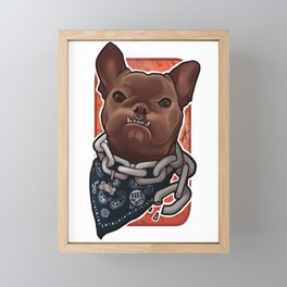 Feed the dog! Framed Mini Art Print