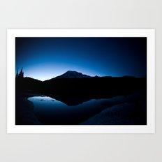 Mt Rainier @ Sunset Art Print