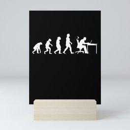 Programmer Evolution Computer Scientist Nerd Mini Art Print