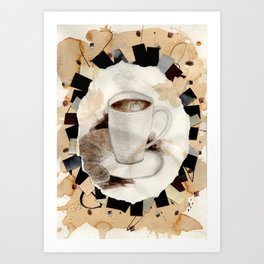 Hot: Coffee Art Print