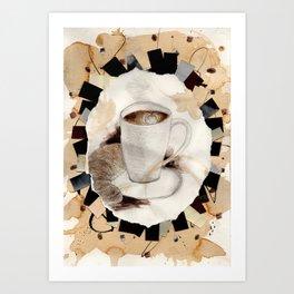 Hot: Coffee Art Print