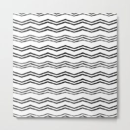 Triangle wave lines Metal Print