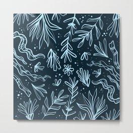 Deep ocean flora Metal Print