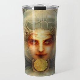 """Art Deco Retro The Chimera"" Travel Mug"