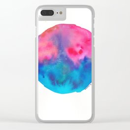 9 | 190831 | Watercolor Circle Clear iPhone Case