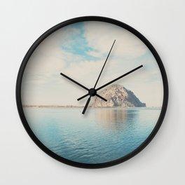 Morro Rock photograph Wall Clock