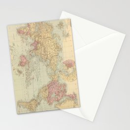 Vintage Map of The World (1901) Stationery Cards