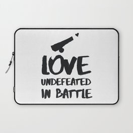 Love undefeated in battle Laptop Sleeve