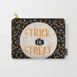 Trick or Treat Halloween Quote Carry-All Pouch