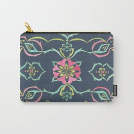 SELENE - FLORAL PATTERN (DARK BLUE) Carry-All Pouch