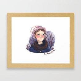 Jane Austen portrait Framed Art Print