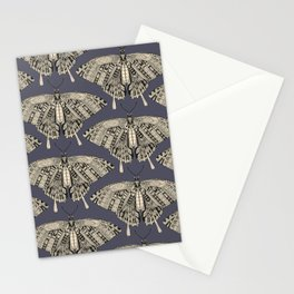 swallowtail butterfly dusk black Stationery Cards