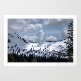 Mountain Shadows and Light Art Print