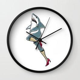 Femme Shark Wall Clock
