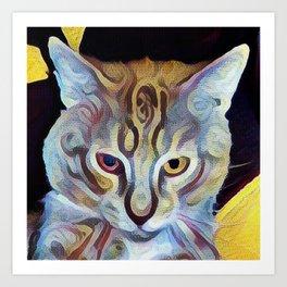 The Dude Cat Art Print