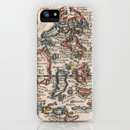 Vintage Map of Indonesia and The Philippines (1659) iPhone Case