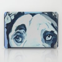 great dane iPad Cases featuring Great Dane in Purple by Barking Dog Creations Studio