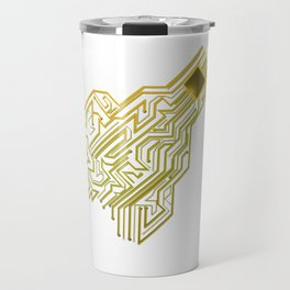 CPU heart for Engineers, Geeks and IT professionals Travel Mug