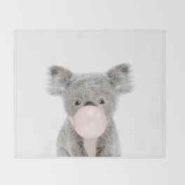 Bubble Gum Baby Koala Throw Blanket