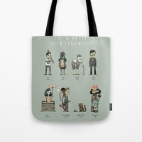 murakami Tote Bags featuring The Wind-up Bird Chronicle by Kensausage