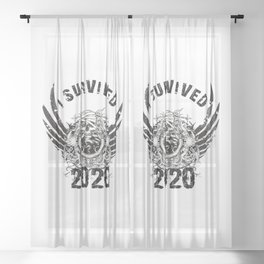 I Survived 2020 Sheer Curtain