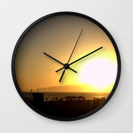 Big Sunset Wall Clock