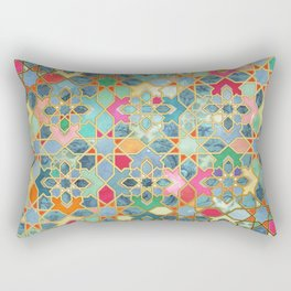 Gilt & Glory - Colorful Moroccan Mosaic Rectangular Pillow