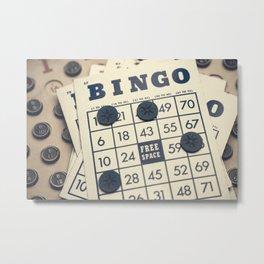 Vintage Bingo Board Game 3 Metal Print