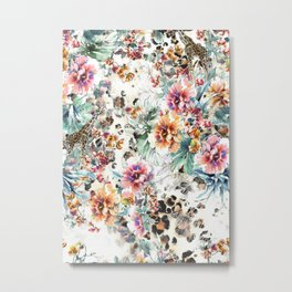 Abstract elegance seamless pattern with floral background. Metal Print