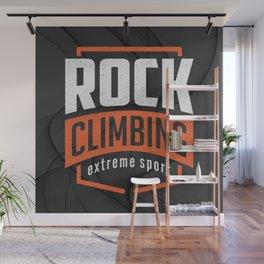 Rock Climbing Wall Mural