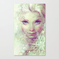 elsa Canvas Prints featuring Elsa by Anna Dittmann