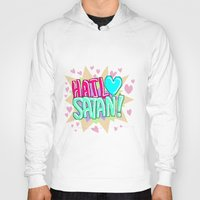 satan Hoodies featuring HAIL ♥ SATAN! by Adrian Trenteseaux