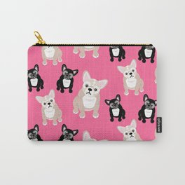 French Bulldog Puppies Pink Carry-All Pouch